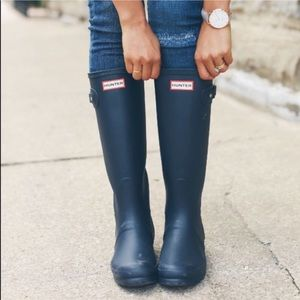 Hunter Tall Matte Rain Boots BNIB